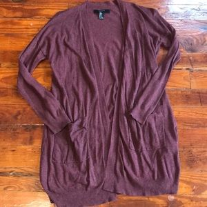 Forever21 Maroon Cardigan Size S